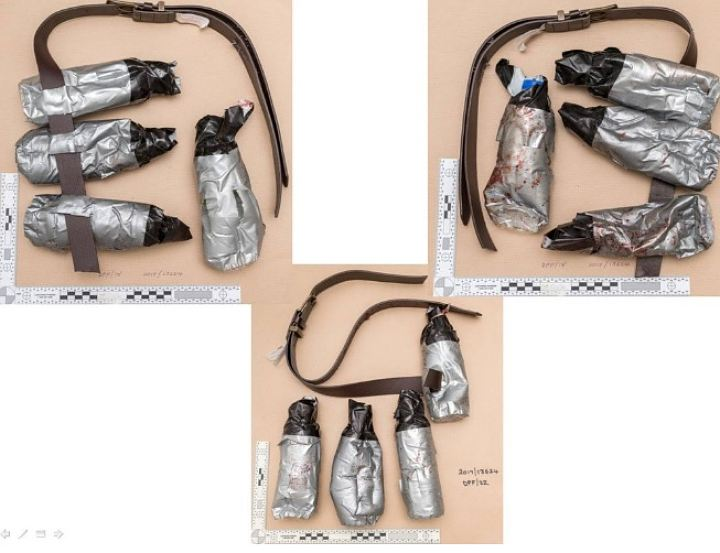 Полиция опубликовала фото поддельных поясов смертников лондонских террористов