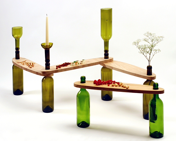 Креативная мебель из бутылок