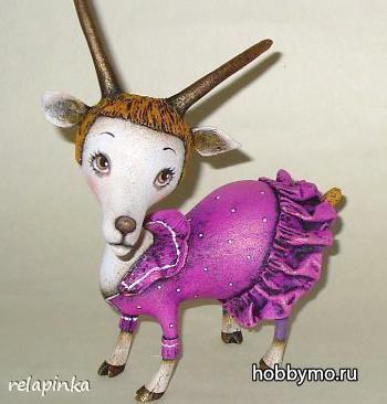 Поделка из старых лампочек. Коза своими руками,2015,коза из лампочек,козы из лампочек,папье-маше,фигурки из лампочек,из лампочек,лампочки,козы своими руками,козочки,козы