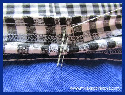 Как сделать закрепку при шитье