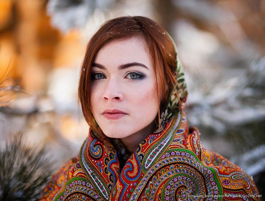 Колоритная фотосессия «Русская зима»  в Ставрополье