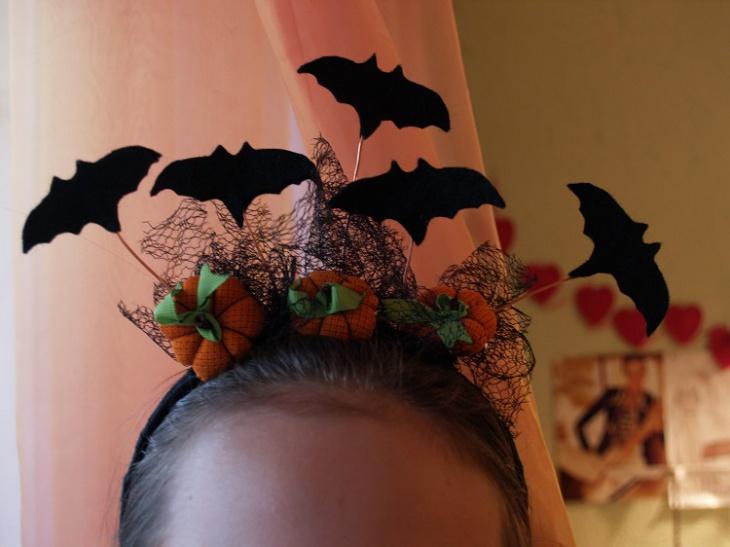 Как сделать ободок на хэллоуин