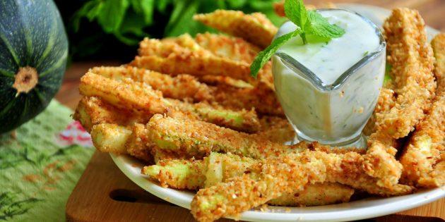 Рецепты с кабачками: Хрустящие кабачковые палочки