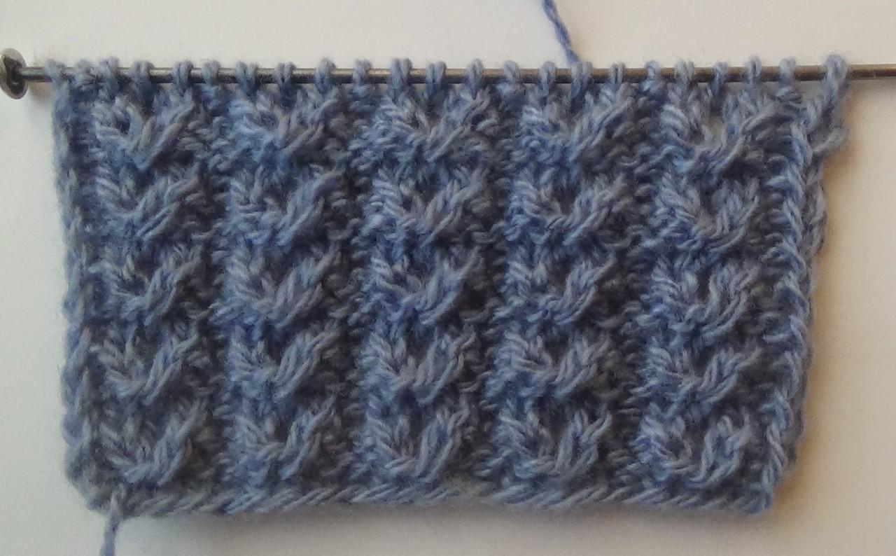 Узор спицами №3 АЖУРНЫЕ ГУСИНЫЕ ЛАПКИ. Knitting pattern