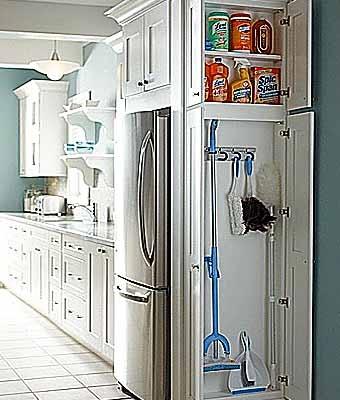 где хранить швабру и моющие средства на кухне