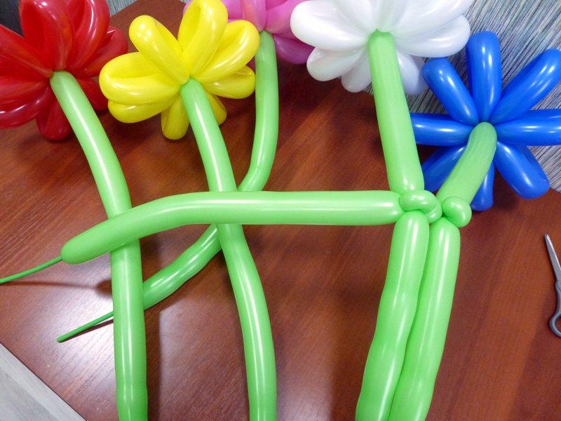 Букет цветов из шаров пошаговая инструкция 86