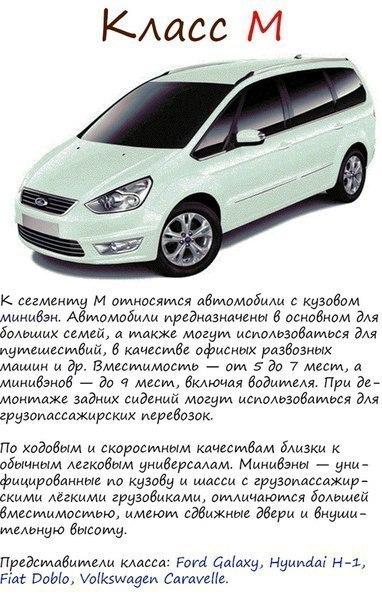 Классификация автомобилей