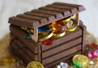 """""""Сундучок с сокровищами"""" из шоколада своими руками"""