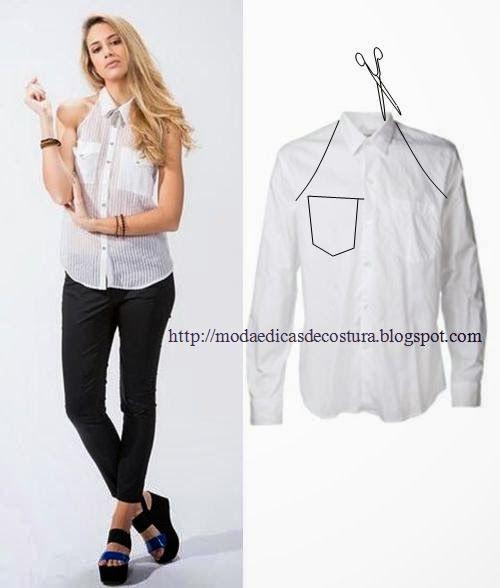 MODA E Dicas DE COSTURA: reciclagem DE Camisas E -1 CAMISETAS