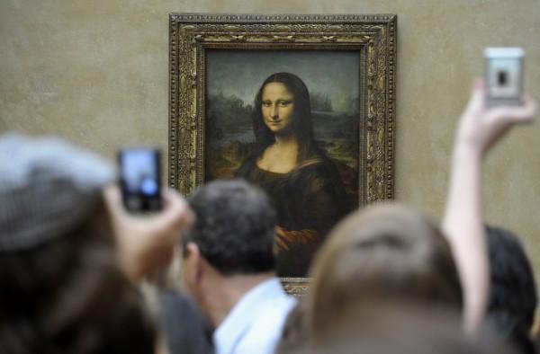 Под картиной «Мона Лиза» Лео…