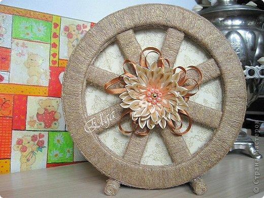 Мастер-класс Моделирование конструирование Чайное колесо Картон Клей Салфетки фото 4
