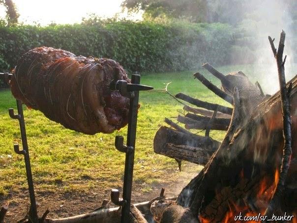 Приготовление на костре дичи