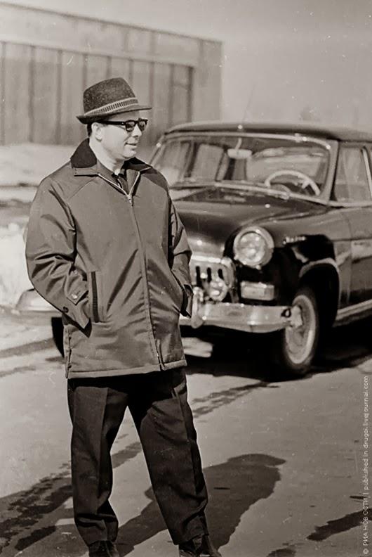 Солидный владелец черной «Волги». 1967 год.