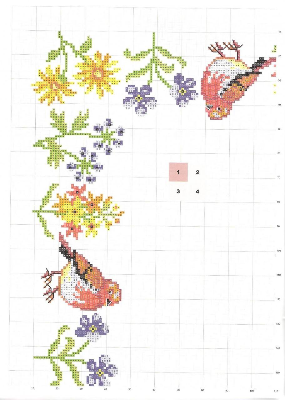 Схемы вышивок на скатерти 97