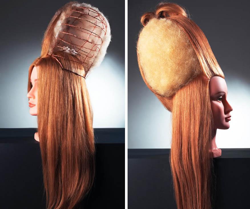 Причёски с проволокой