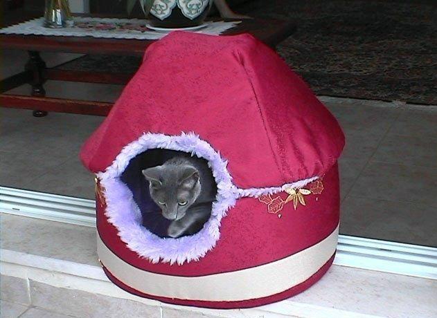 Как самому сделать домик для кошки