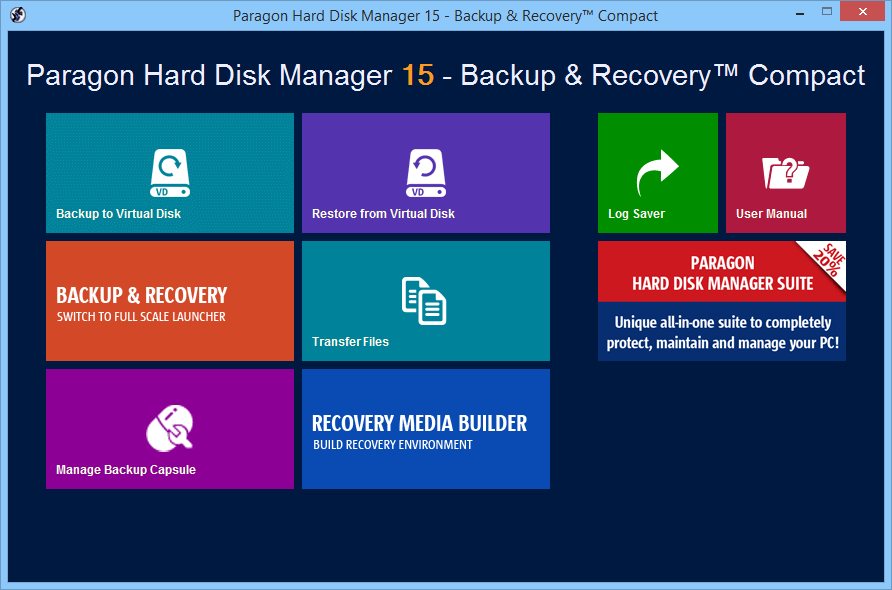 Paragon Disk Backup And Recovery 10 Free Edition Portable Air