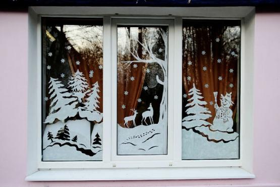 Декорируем окна к Новому Году