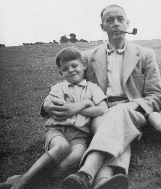 8-летний Пол Маккартни вместе со своим отцом, 1950 дети, известность, история, фото