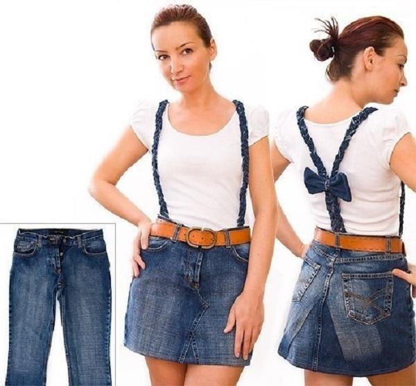 Из джинс в юбку своими руками