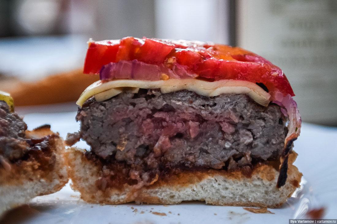 Как сделать гамбургер с мясом