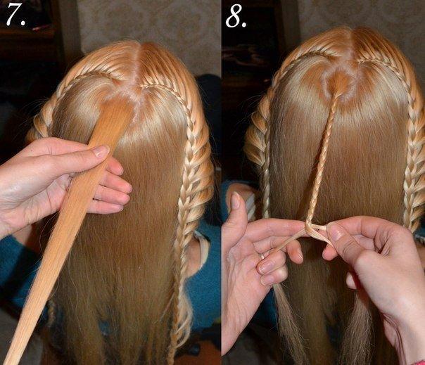 Прически необычная коса