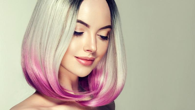 яркие волосы без осветления