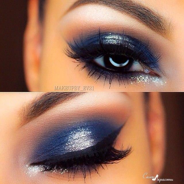 Как применять голубые тени в современном макияже