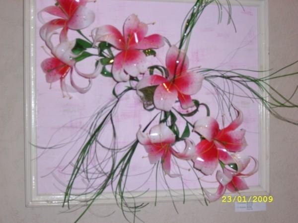 Как сделать цветок своими руками из пластиковых