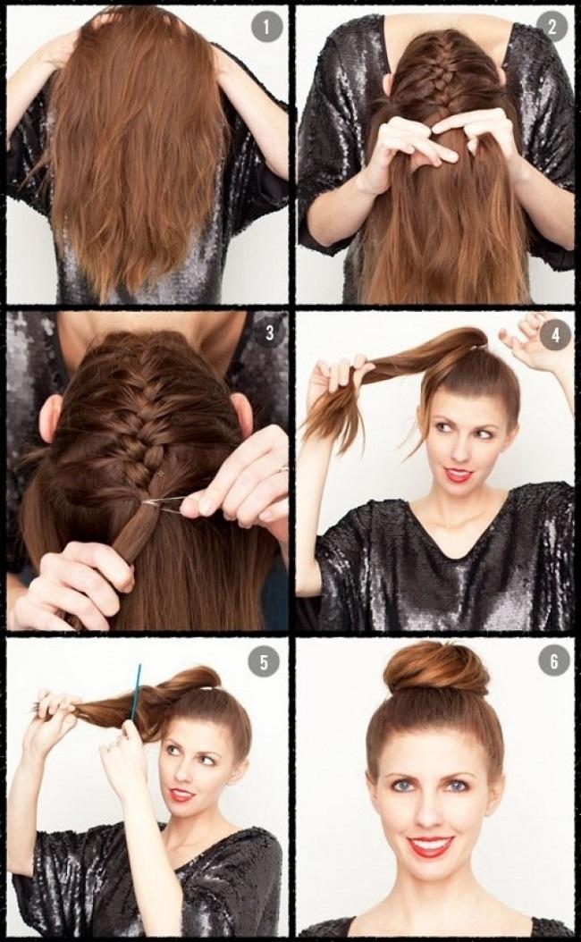 Красивые прически для работы для длинных волос