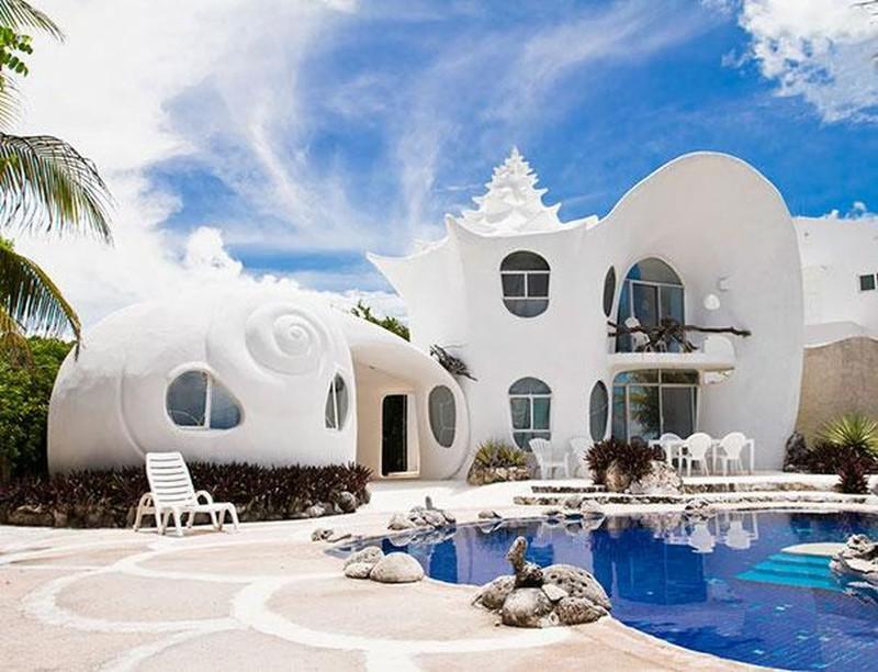 5. Дом-ракушка (Seashell House) в Мексике. в мире, дом