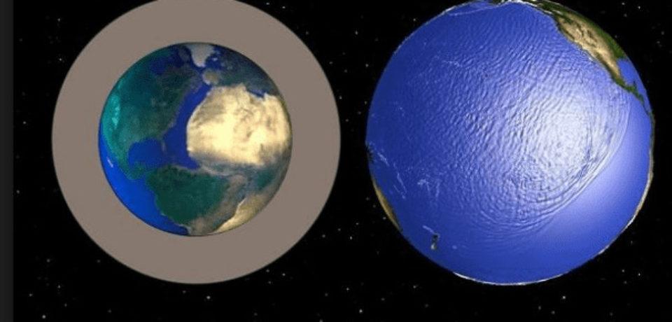 Гипотеза роста планет и гиперболоическая линза