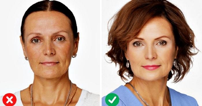 Коррекция лица при помощи стрижки. | Фото: ratatum.com, rejoingid.ru.