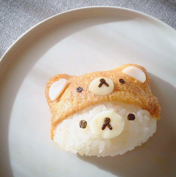 Очень мило оформленные блюда по мотивам японской кухни