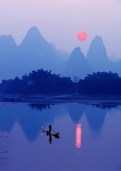 Живописные пейзажи реки Ли (Китай)