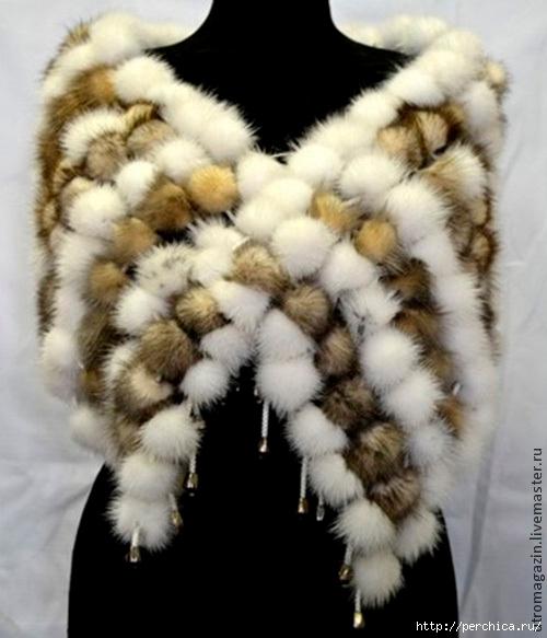 Как сделать шарф из меха фото 932