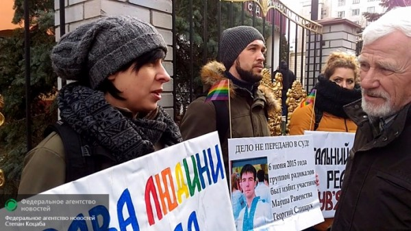 Киев. Правосеки против гомосеков.
