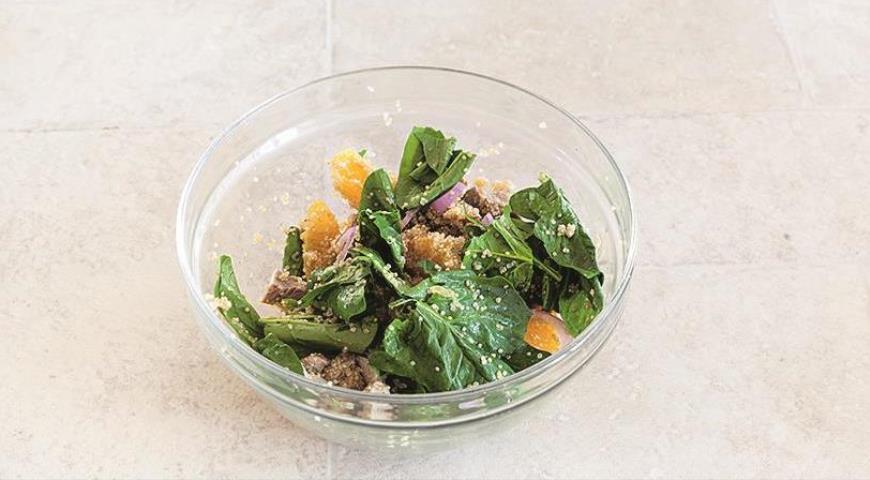 Салат из киноа с курицей и апельсинами для сытного ужина. Шаг 5