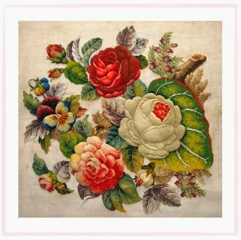 Викторианская вышивка в стиле