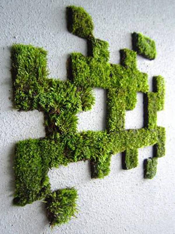 Как сделать надпись из моха - Компания Экоглоб
