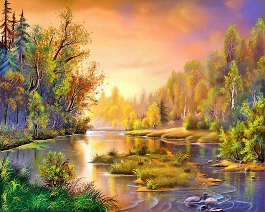 У осени красивые краски. Компьютерная графика Виктора Циганова