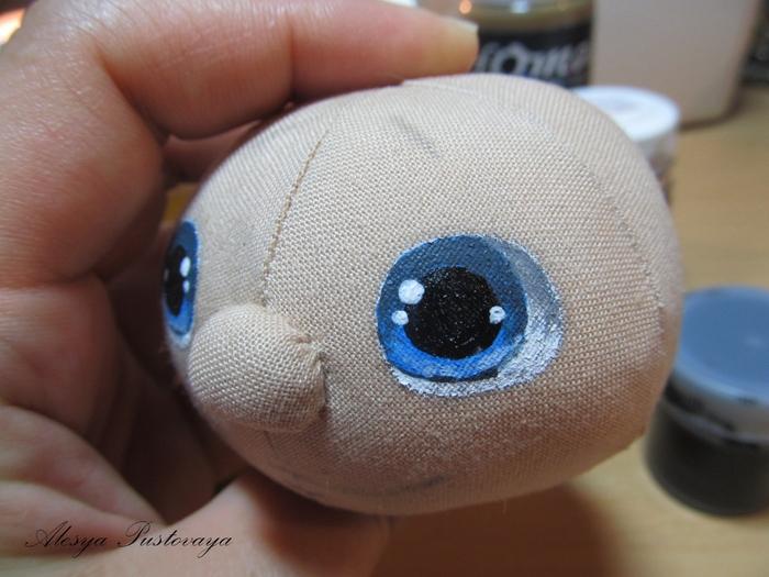 Как нарисовать глаза для домовенка