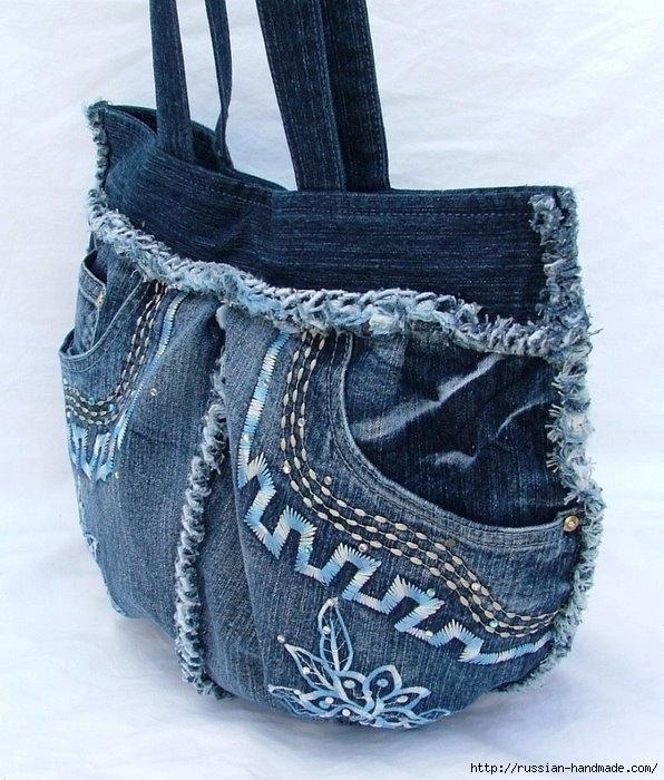 Модные сумки из старых джинсов (23) (596x700, 276Kb)