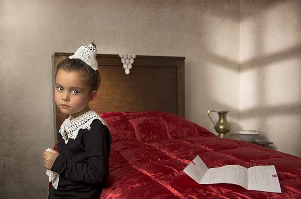 Известные картины в исполнении 5 летней девочки...