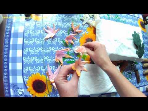 Цветы из ткани (георгин)