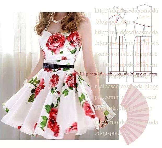 Простые выкройки и моделирование летних платьев