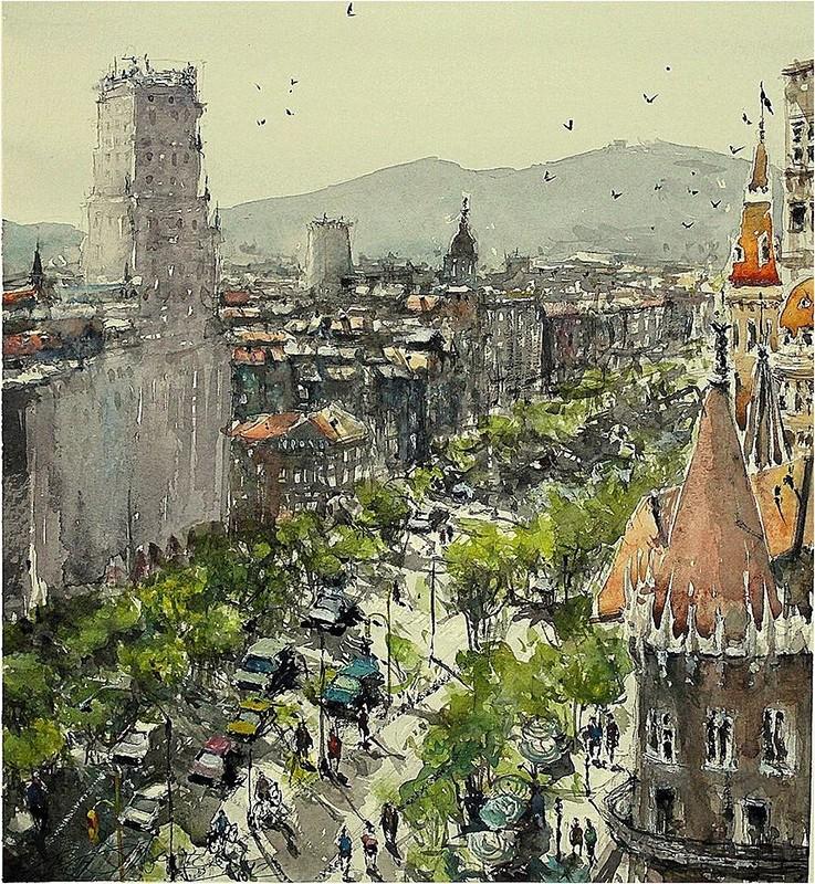 Акварели Maximilian Damico: городские пейзажи ...: liveinternet.ru/users/2496320/post363151843