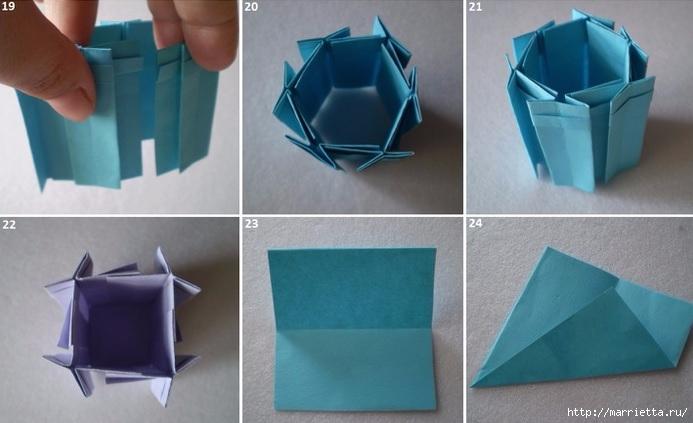Бумажные цветы в горшочках в технике оригами (5) (693x423, 148Kb)