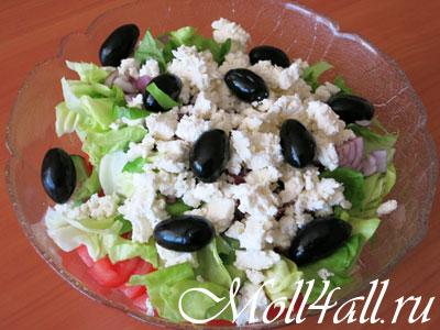 Болгарский салат с брынзой.