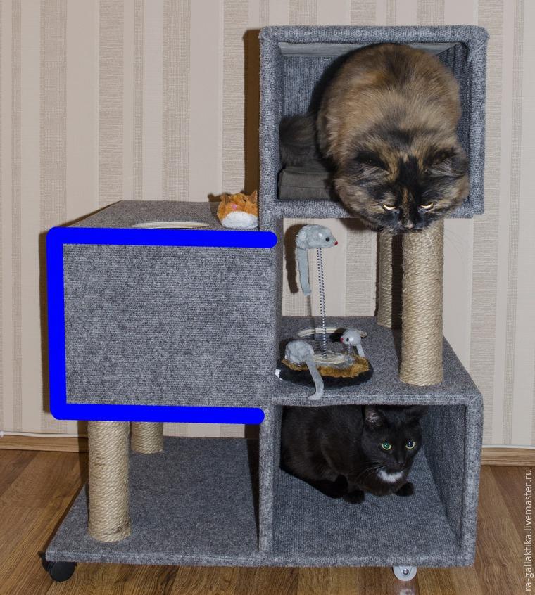 Фото домика для кошки своими руками фото 50